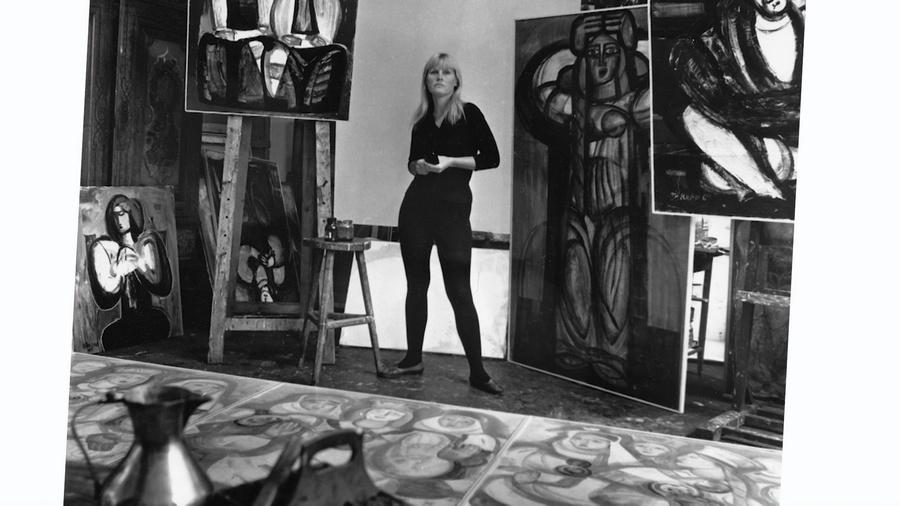 Dāma. Gleznotāja Džemma Skulme
